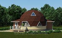 Строительство купольного загородного дома, под заказ
