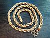 Мужская цепь Gold filled 18k, фото 2