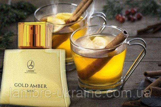 Amber Gold man - чоловіча парфумована вода Ламбре - 75мл
