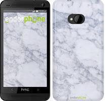 "Чохол на HTC One M7 Блакитний мармур ""3062c-36"""