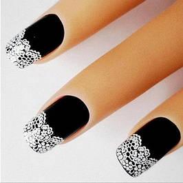 """Наклейки """"кружева"""" для дизайна ногтей"""
