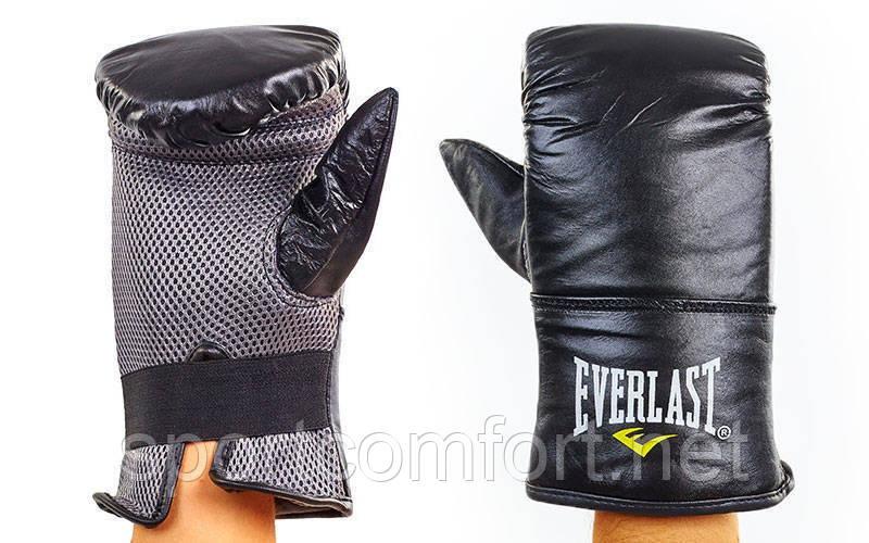 Кожаные снарядные перчатки Everlast с сеткой реплика