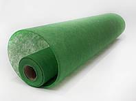 Флизелин однотонный зеленый