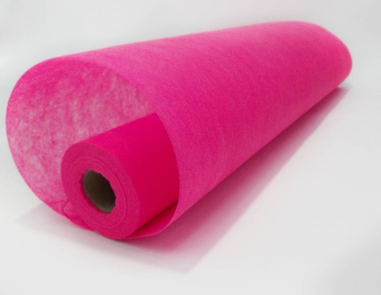 Флизелин однотонный розовый