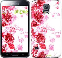 """Чехол на Samsung Galaxy S5 Duos SM G900FD Нарисованные розы """"724c-62"""""""