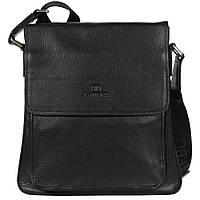 Добротная мужская сумка через плечо для документов черная Lare Boss