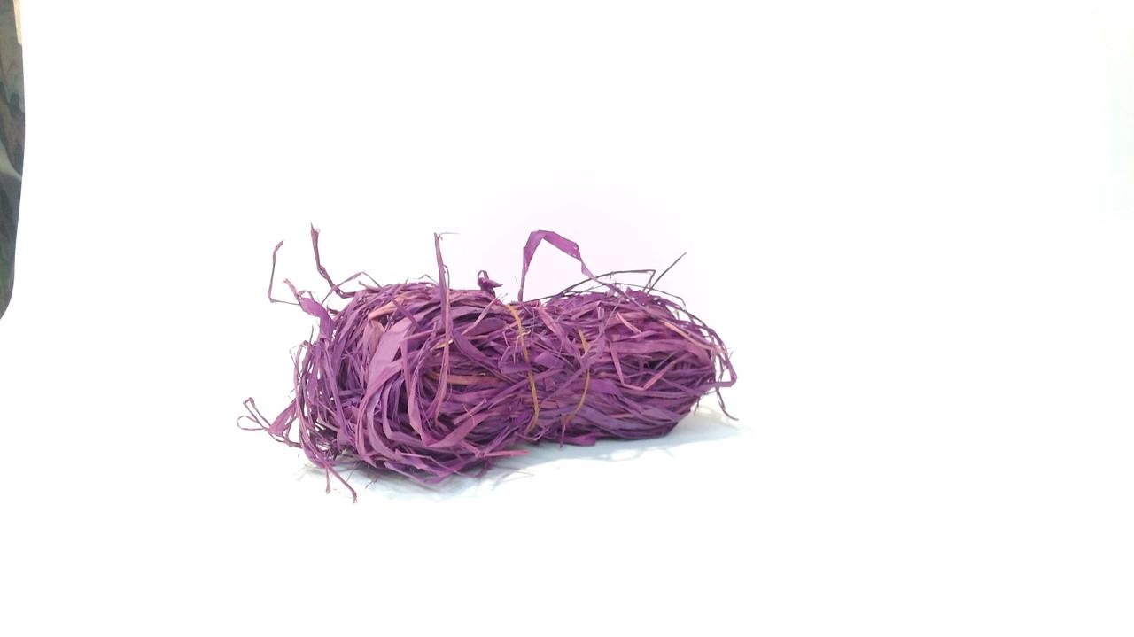 Рафия натуральная фиолетовая