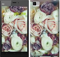 """Чехол на Xiaomi Mi3 Букет роз """"2692u-170"""""""