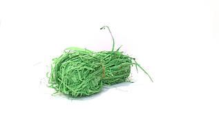 Декоративная рафия натуральная зеленая
