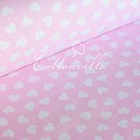 ✁ Отрезы бязи мелкие сердечки на розовом, фото 1