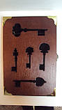 Ключница настенная деревянная «Ключи от волшебного замка» размер 30*20*5, фото 3