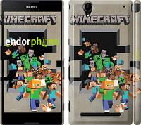 "Чехол на Sony Xperia T2 Ultra Dual D5322 Minecraft 6 ""3330c-92"""