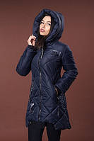 Темно синяя женская утепленная куртка. Опт и розница