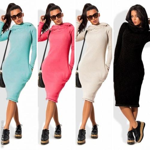 Трикотажные женские платья украина