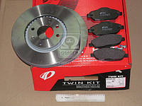 Комплект тормозной передн. PEUGEOT 308 1.4-2.0 07-,3008 1.6HDI 09- (пр-во REMSA) 81323.00