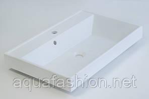 Умивальник на стільницю 700х450 з литого мармуру Fancy Marble Signe