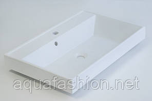 Умывальник на столешницу из литого мрамора Fancy Marble Signe 70 см