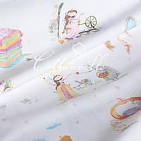 Хлопковая ткань Сказочные принцессы, фото 1