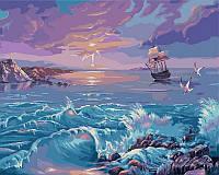 Картины по номерам на холсте 40×50 см. Одинокий парус Художник Виктор Цыганов, фото 1