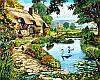 Картини по номерах 40×50 см. Коттедж у озера