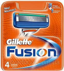 Gillette Fusion 4 шт. в упаковке сменные кассеты для бритья