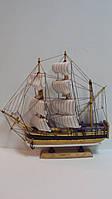 Модель деревянного парусника размер 32*32