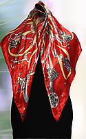 Платок женский 100% шёлка Красный