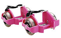 Ролики на пятку Flashing Roller SK-166-Р(с подсветкой) розовый