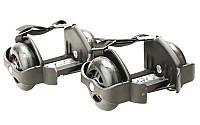 Ролики на пятку Flashing Roller SK-166-BK(с подсветкой) черный
