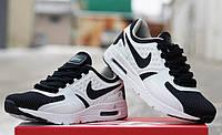 Мужские кроссовки Nike Air Max Zero, черно белые / кроссовки мужские Найк Аир макс зеро, сетка + текстиль