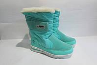 Ботинки женские зимние Snow 734-1 бирюзовый код 3040А