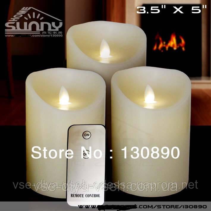 Свечи электронные на пульте управлении Led Candle Set, фото 1