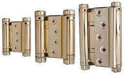 Петли дверные маятниковые MERT 120/100 мм, латунь 30