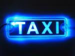Табличка с подсветкой Taxi King KL 0843 blue