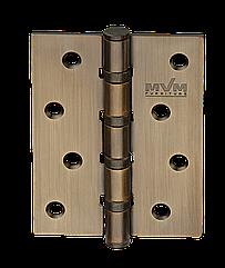 Петли универсальные дверные (100/75/2 мм) полир.латунь MVM H 100 MACC