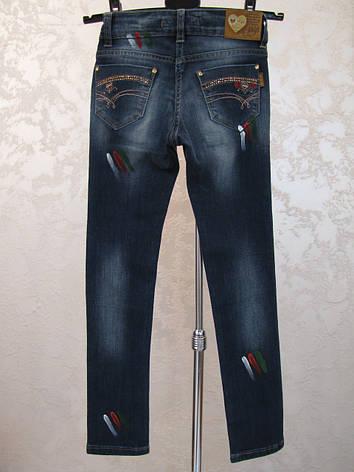 Модные джинсы для девочек 128,134,140 роста Капли, фото 2