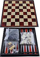 Набор 3в1 Нарды,Шахматы,Шашки (Магнитная доска) №47710