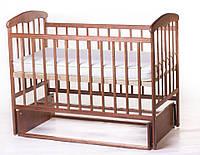 Детская кроватка Наталка маятник Ясень Тонированная