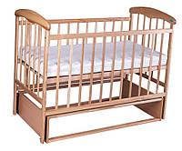 Детская кроватка Наталка маятник Ясень Светлая