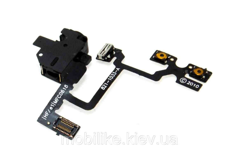 IPhone 4S шлейф роз'єм гарнітури чорний