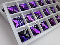 Стразы пришивные Lux Квадрат 16мм. Purple Velvet