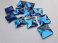Стразы пришивные Lux Квадрат 16мм. Sapphire