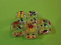 Кубик игральный прозрачный 24 х 24 мм