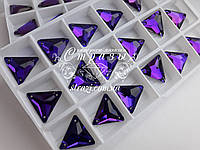 Стразы пришивные Lux Треугольники 16мм. Purple Velvet