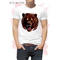 Футболка белая Медведь, фото 1