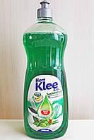 Средство для мытья посуды Klee 1 л, (ментол и алое).