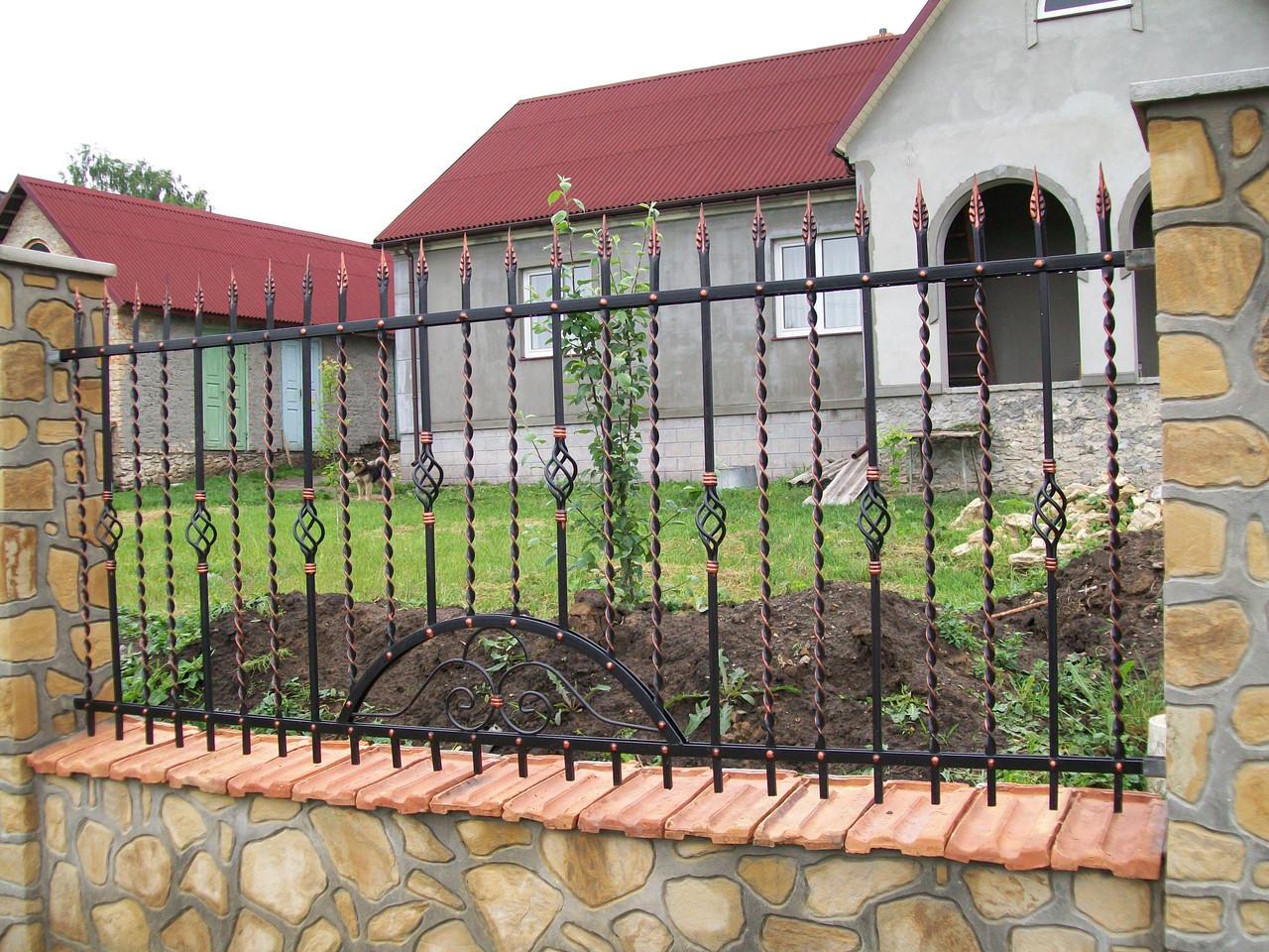 Забор кованый Калина, Калина плюс