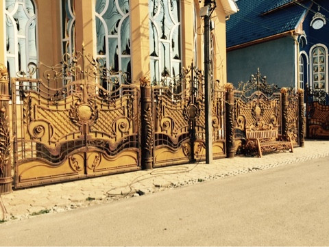 Забор кованый Астра
