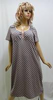 Женская ночная рубашка длинная, больших размеров, хлопок. 127
