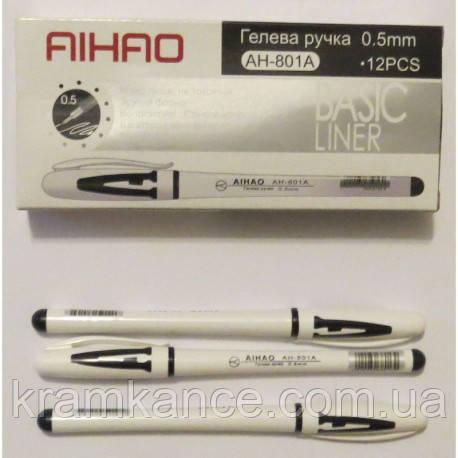 Ручка гелевая AIHAO 801 черн